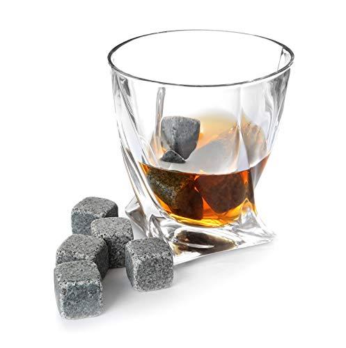 TRIXES 9 Piezas Calidad Granito - Whisky Piedras - Hielo Sec