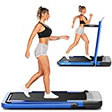 ANCHEER Treadmill,2-in-1 Folding Treadmill for Home,Electric Under-Desk Treadmill with App & Remote Control, LED Display, Indoor Walking Running Exercise Machine Simple Assemble