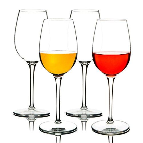 MICHLEY Unbreakable Red Wine Glasses, Tritan Plastic Shatterproof Wine Goblets 12.5 oz, Set of 4