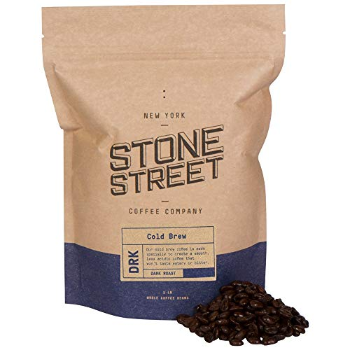 Stone Street Coffee Cold Brew Reserve Colombian Supremo Whole Bean Coffee, 1 LB Bag, Dark Roast