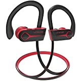 Letscom Bluetooth Headphones, 15Hrs Playtime Wireless 5.0 Earbuds IPX7 Waterproof Sport Running in-Ear Headsets w/Mic Stereo Sound Noise Cancelling - Upgraded Version