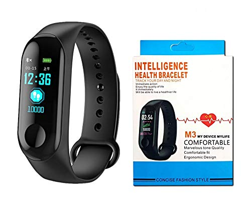 M3 Smart Fitness Wristband Smart Watch with Bluetooth Exercise Tracker