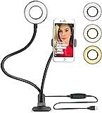 Support Téléphone avec Selfie Ring Light,le Flux en Direct et le...