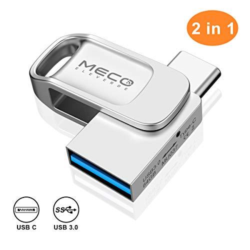 MECO ELEVERDE Chiavetta USB 64 GB 3.0 USB Tipo C...