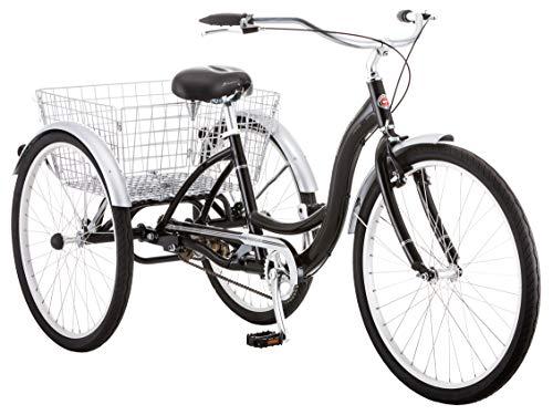 Schwinn Meridian Adult Trike, Three Wheel Cruiser Bike, Multiple Speeds, 26-Inch Wheels, Cargo Basket, Multiple Colors