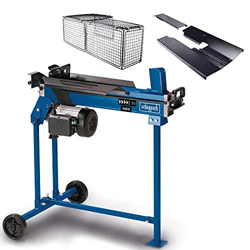 scheppach HL760LS Fendeuse de bois de chauffage, horizontale, hydraulique et électrique, 230V, avec support, force de fendage: 7tonnes, longueur de fendage: 520mm, puissance: 2200W