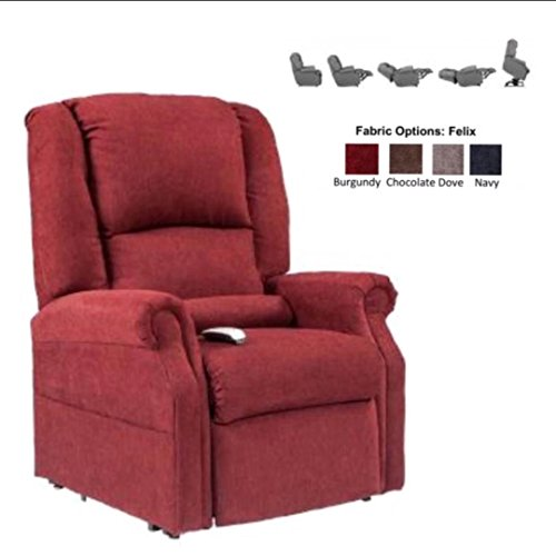 NM-101 (Dove) Mega Motion Juno Ultimate Power Recliner and Lay Flat Chaise Lounger with Infinite-Position. (This Chair in Dove Fabric) Free Curbside Delivery.