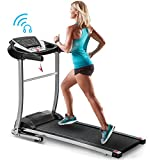 Merax Folding Electric Treadmill Motorized Running Machine Easy Assembly Electric Treadmills for Home, Motorized Fitness Compact Running Equipment with LCD for Home