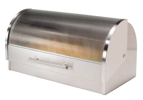 Oggi Stainless Steel Roll Top Bread Box...