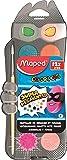 Maped - Peinture Gouache Enfant - Palette de 12 Pastilles Color'Peps -...