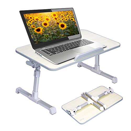 Neetto Height Adjustable Laptop Bed Table, Portable Lap Desk with...