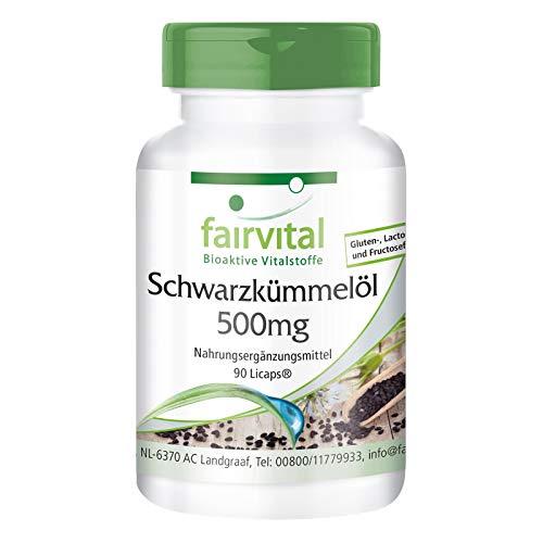 SchwarzkümmelÖl Kapseln 500mg - HOCHDOSIERT - VEGAN - 90 LiCaps® - reich an wichtigen Fettsäuren