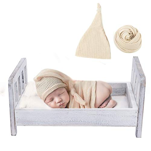Newborn Photography Bed, Baby Photography Prop Bed with Ripple...