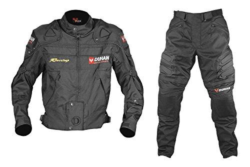 DUHAN(ドゥーハン) バイクジャケット&パンツセット ブラック XL オールシーズン 春夏秋冬用 905411