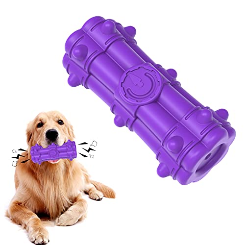 SYEENIFY Dog Toys for Aggressive Chewers Large Breed,Squeaky Dog Toys for Large Medium Dogs Aggressive Chewers,100% Natural Rubber,Milk Flavor