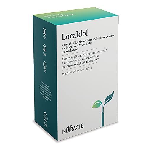 NUTRACLE LocalDOL 15 bustine da 2,2g Contrasta emicranie e tensioni. Integratore a base di Salice Bianco, Partenio, Melissa, Zenzero. Con Magnesio e Vitamine B2