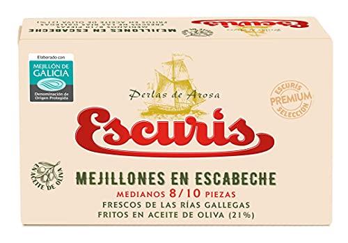 Escuris Mejillones Escabeche Fritos en Aceite de Oliva - 111 gr