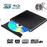 Lecteur Graveur Blu Ray Externe DVD 3D USB 3.0 Portable Ultra Slim Graveur de...
