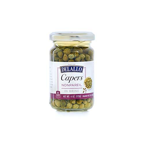 DeLallo Capers Nonpareil in Brine 4 oz. (Pack of 2)