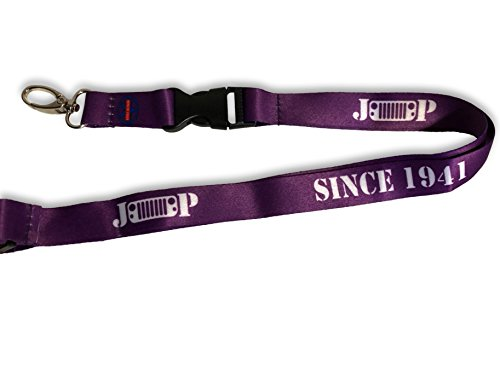 Lanyard Keychain - Compatible with Jeep JK Wrangler - Colors: Black, Pink, Purple, Red, White, Blue (Purple)