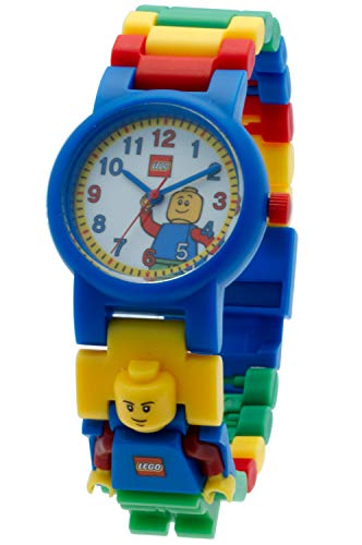 LEGO Classic 8020189 Orologio da polso componibile per bambini con cinturino a maglie e minifigure