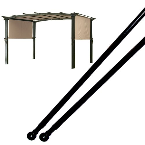 Replacement weight rods for a pergola canopy