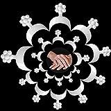 Hanyousheng 100 Piezas Puntas de Uñas Francesas Puntas de Uñas Acrílicas de 10 Tamaños Herramienta de Extensión de Etiqueta de Manicura para...