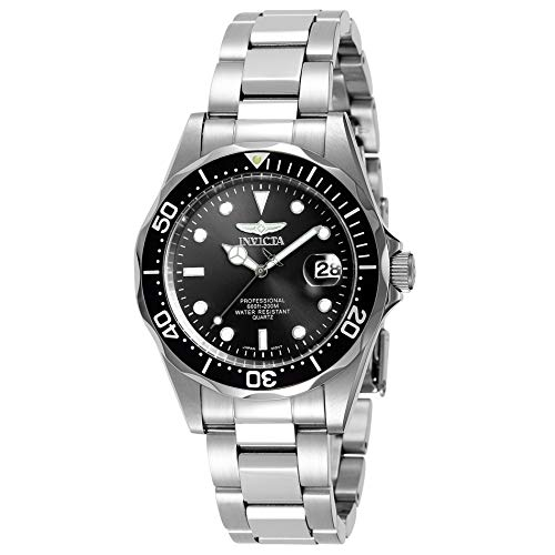 Invicta Men's Pro Diver 37.5mm Stainless Steel Quartz Watch, Silver (Model: 8932)