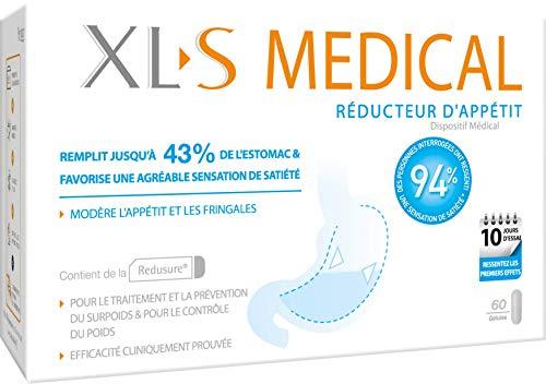 XL-S MEDICAL Spécialiste Réducteur d'Appétit – Gélules pour Réduire L'Appétit – Boîte de 60 Gélules