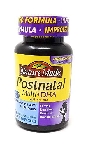 Nature Made Postnatal Multi-Vitamin Plus DHA Softgels, 60 Count (Pack of 2)