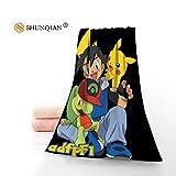 AISHANG Serviettes de Bain en Microfibre Pokemon Pikachu Serviettes Voyage,...