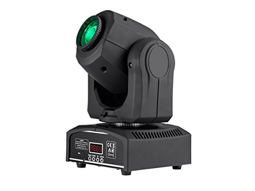 Monoprice SFL Stage Beam 30 Watt LED Moving Head Light and Gobos Plus Open - Set of 7 Colours