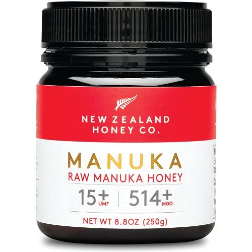 New Zealand Honey Co. Manuka Honig MGO 514+ / UMF 15+ | Aktiv und Roh | Hergestellt in Neuseeland | 250g