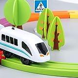 Garçon Et Filles Train Électrique De Jouet, Kit De Train En Bois Pour Enfants,...