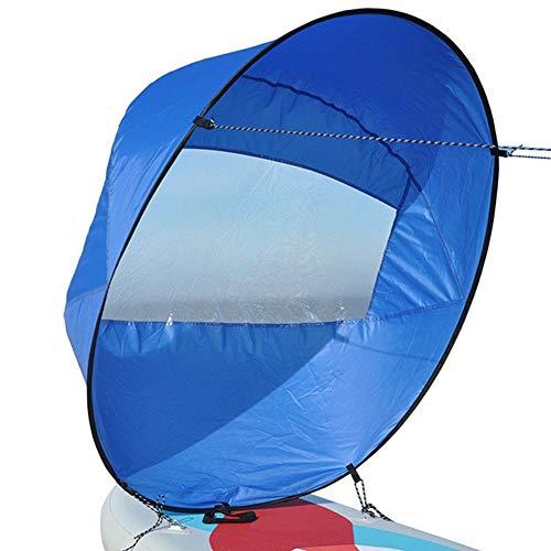 42 Zoll Kajak Segel, Spezialsegel für Wassersport Kajak, SUP Paddle Board Sphärische ultraleichte tragbare Faltung
