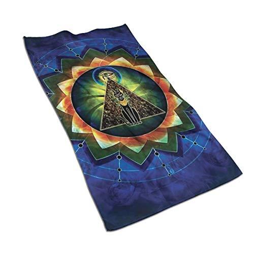Toalla de Mano genérica de 27.5 x 15.7 Pulgadas con patrón místico Egipcio Sagrado, Suave, superabsorbente, esponjosa Toalla de algodón Personalizada, Cara Cuadrada Suave para baño de Hotel