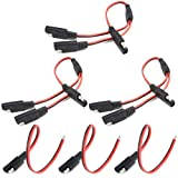 WMYCONGCONG 3 PCS 1 TO 2 SAE Power Automotive Extension Cable + 3 PCS SAE Power Automotive Extension Cable18AWG 300mm