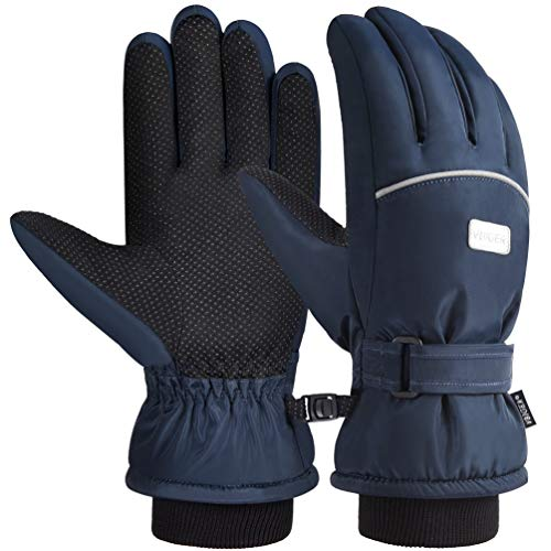 VBIGER Ski Handschuhe Skating Handschuhe Warm Winter Handschuhe Verdickt Kalt Wetter Handschuhe Beiläufig Outdoor Sports Handschuhe Winddicht Geeignet für 6-12 Jahre kinder
