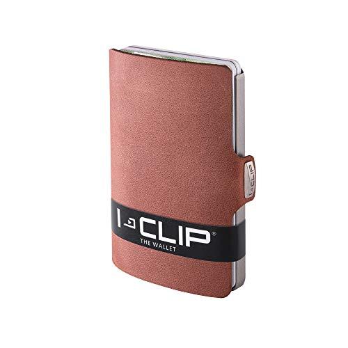 I-CLIP ® Geldbörse Soft-Touch Oak, Metallic-Grey (In 8 Varianten Erhältlich)