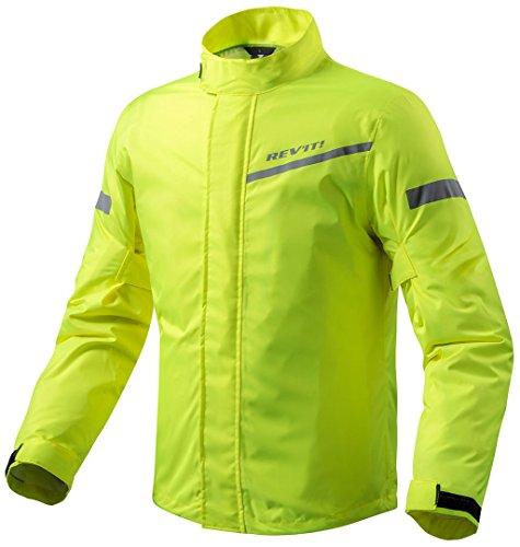 REV\'IT! CYCLONE 2 H2O Motorrad Regenjacke - neon gelb Größe S