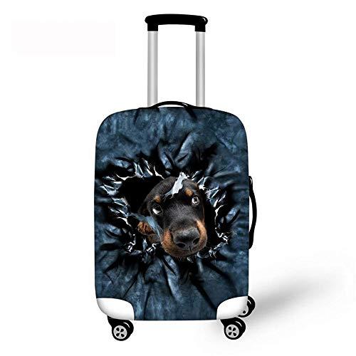 BBOOXX 3D Copri Valigia Elastico Carrello Animale Domestico Cucciolo Stampa Bagaglio Astuccio Copertine protettore Adatto per Ragazzo Ragazza Turismo Viaggio di Lavoro H-M(22-24in)