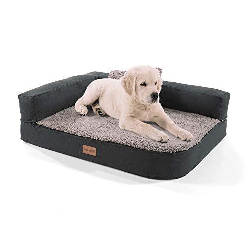 Brunolie Odin - Piccolo divano per cani, lavabile, ortopedico e antiscivolo, con schienale...