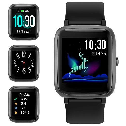 GRDE Smartwatch Bluetooth V5.0 Orologio Fitness Uomo Donna 1,3'' Touchscreen Fitness Tracker con...
