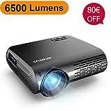 Vidéoprojecteur, WiMiUS 6500 Lumens Vidéo Projecteur Full HD 1920x1080P...