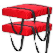 Bradley Type IV Boat Cushion USCG Approved Throwable Flotation Device - Red
