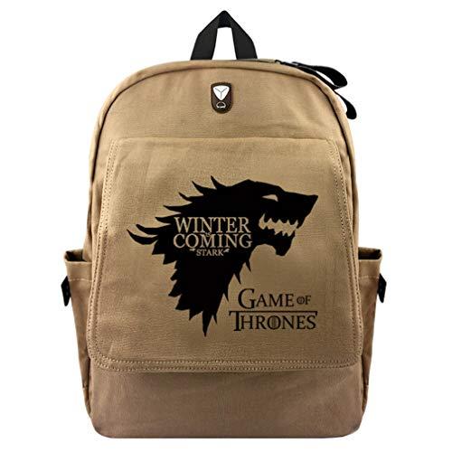 Mochila escolar de gran capacidad para estudiantes, con mochila de tela, juego de Tronos