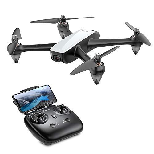 Potensic Drone Brushless GPS con Telecamera1080P 5G WiFi FPV RC Drone Professionale D60 Grandangolare Telecomando Videocamera Seguimi GPS Ritorno a Casa Mantenere Altitudine Lunga Distanza (Bianco)