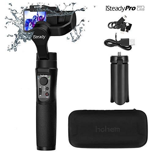 Hohem iSteady Pro 2 3-Axis Handheld Camera Gimbal Stabilizzatore Handheld Camera Gimbal for Gopro Hero 7 6 5 4 3 Yi Cam 4K AEE SJCAM Sony RX,caméscope sport 12h de marche, imperméable (Nero)