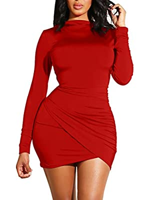 Material:90% polyester and 10% spandex,super stretchy,soft and comfortable fabric Classic and simple cut out,it fits all your curves.You can dress up with your jacket or coat for spring,autumn and winter High turtle neck,long sleeve,hidden zipper in ...