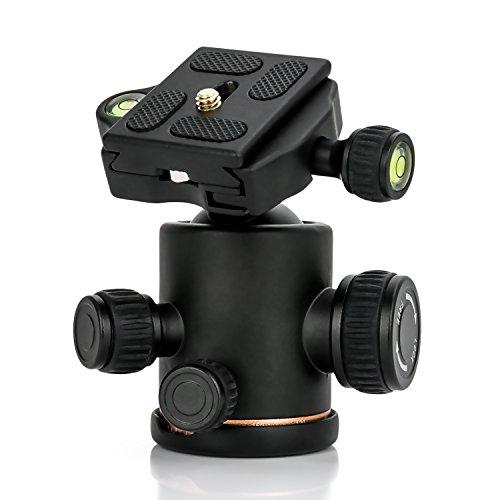 自由雲台 ボールヘッド クイックシュー付き 耐荷重量8KG以上 360度回転可能 アルミ製 全景撮影 ビデオ カメ...
